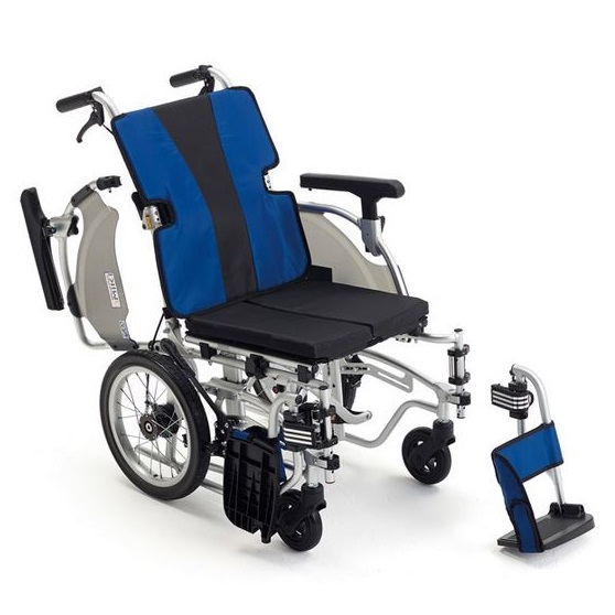 車椅子(介助式) ブルー MEF-14<ミキ>