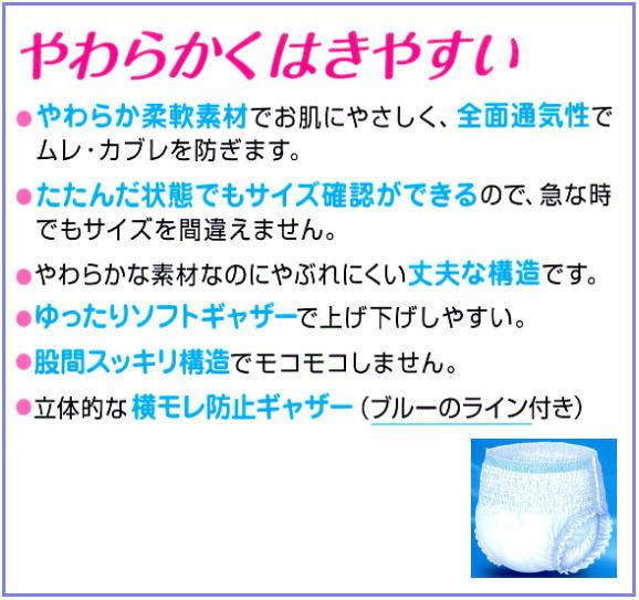 リフレ はくパンツレギュラー(Sサイズ・業務用) 22枚×4袋 <リブドゥコーポレーション>
