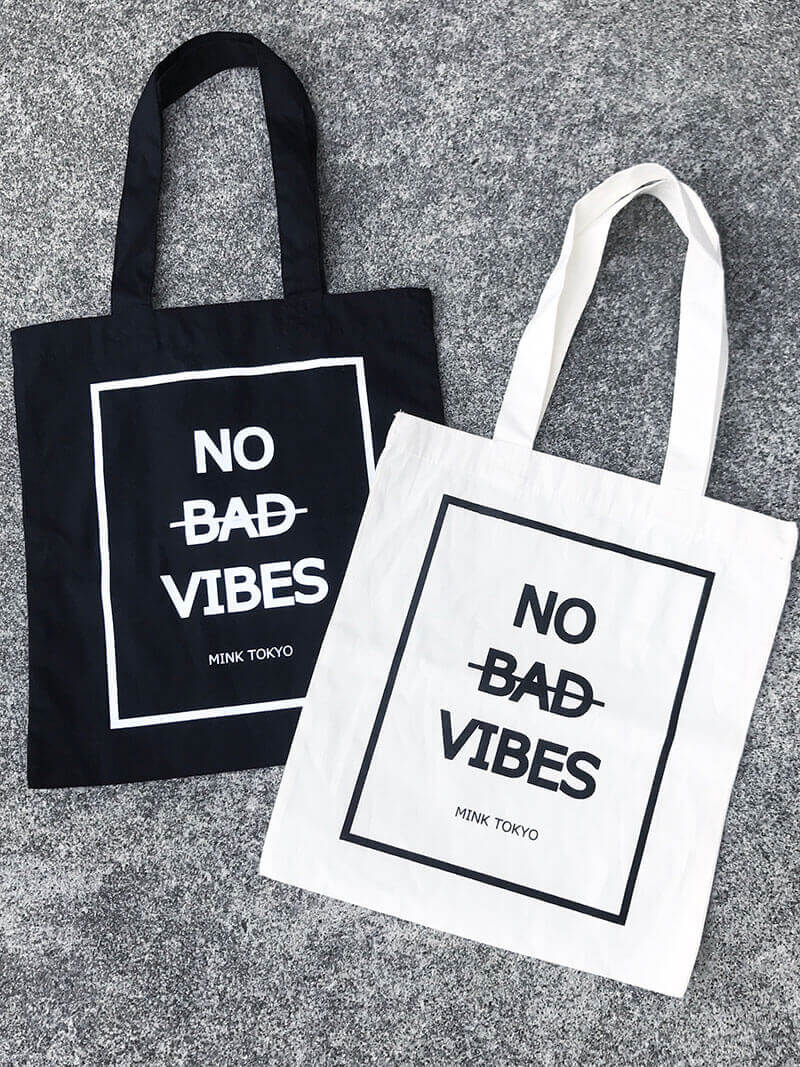 NO BAD VIBES TOTE BAG