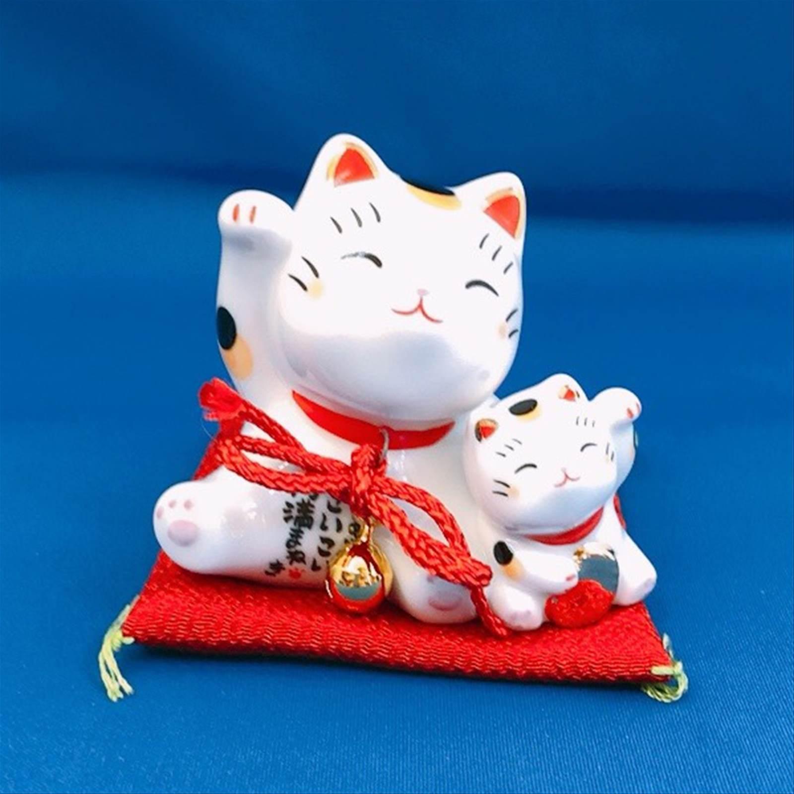 開運グッズ 円満まねき猫(だっこ) H7cm [浅草 お土産]