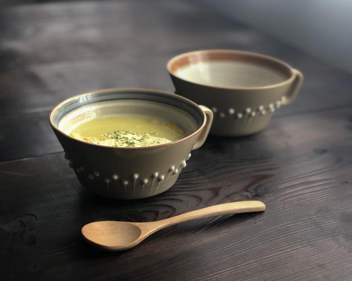アダチノポタリ スープカップ ブラウン