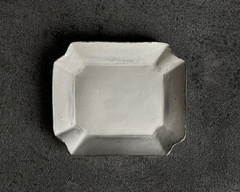 橦木町粘土  八角皿