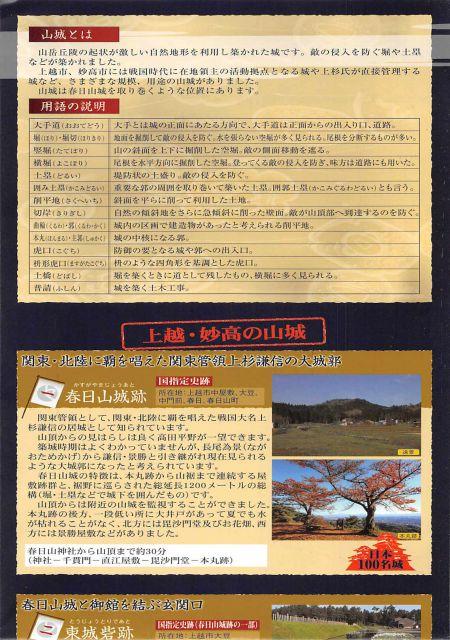 新潟県上越地域(上越妙高山城マップ)/上杉謙信、日本100名城「春日山城」