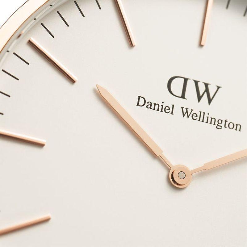 Daniel Wellington(ダニエルウェリントン) CLASSIC YORK 40mm ローズゴールド 【バンドカラー ダークブラウン】 【DW00100011】