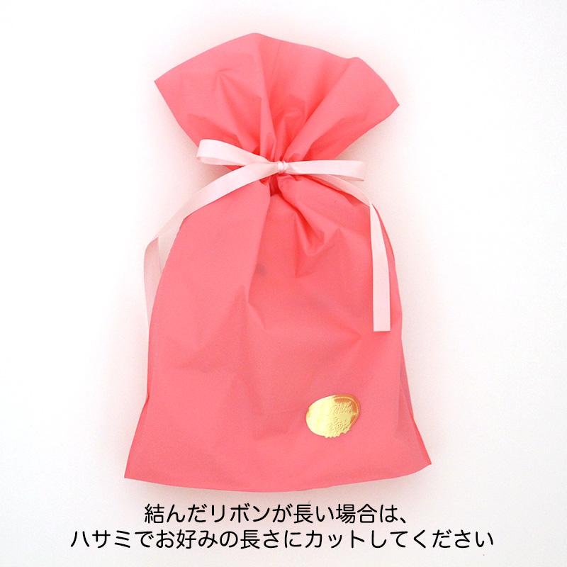 ラッピングキット「リボン付きバッグ」「ショップ袋」「シール」3点セット