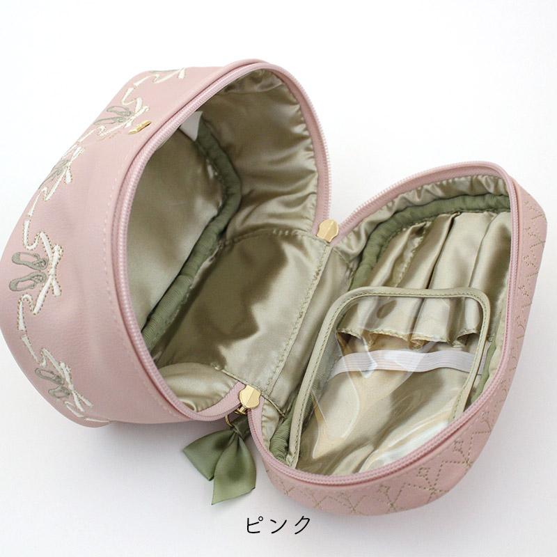 トウシューズ刺繍バニティポーチ
