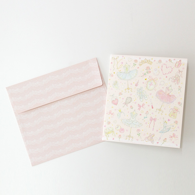 メッセージカード/2つ折り色紙・封筒