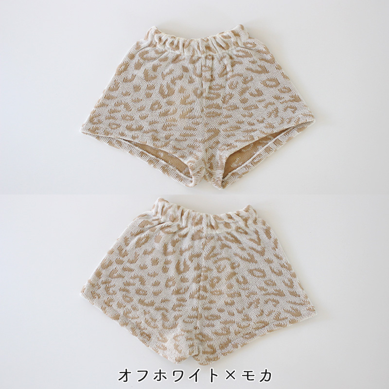 大人・ジュニア用ヒョウ柄ニットパンツ