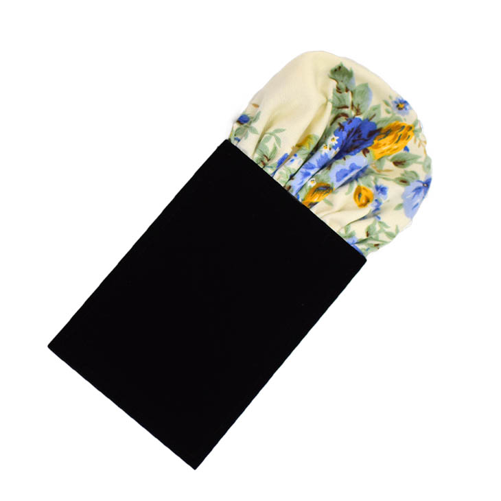 ★簡易ポケットチーフ パスチーフ 挿すだけ 簡単 パフド型 コットン 白地に花 MISAKO 【日本製】 メンズ 結婚式 二次会 披露宴 ビジネス おしゃれ 入学 入社 ハンカチ シルク パーティ ワンタッチ