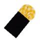 ★簡易ポケットチーフ パスチーフ 挿すだけ 簡単 パフド型 コットン チェック イエロー MISAKO 【日本製】 メンズ 結婚式 二次会 披露宴 ビジネス おしゃれ 入学 入社 ハンカチ シルク パーティ ワンタッチ