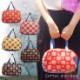 ミニバッグ 手提げバッグ ハンドバッグ エコバッグ コンビニバッグ レジ袋 【日本製】 コットン 椿柄 MISAKO