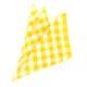 ★ポケットチーフ スクエア コットン/チェックイエローMISAKO 【日本製】(メンズ 結婚式 二次会 披露宴 ビジネス おしゃれ マナー 入学 入社 ハンカチ コットン パーティ 簡単 ワンタッチ)