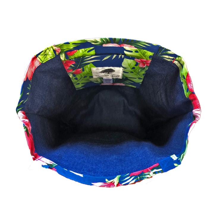 トートバッグ 肩掛けバッグ ハンドバッグ エコバッグ コンビニバッグ レジ袋 【日本製】 コットン ハイビスカス柄 MISAKO