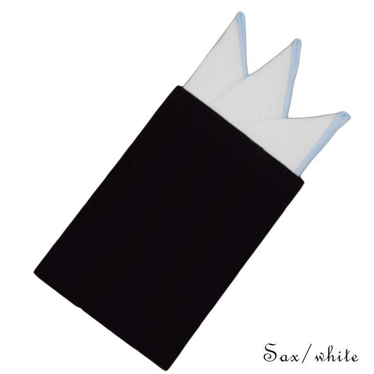 ★簡易ポケットチーフ パスチーフ 挿すだけ完了 スリーピークス型 リネンメロー 6カラー MISAKO【日本製】(メンズ 結婚式 二次会 披露宴 ビジネス  おしゃれ マナー 入学 入社 ハンカチ シルク パーティ ワンタッチ)