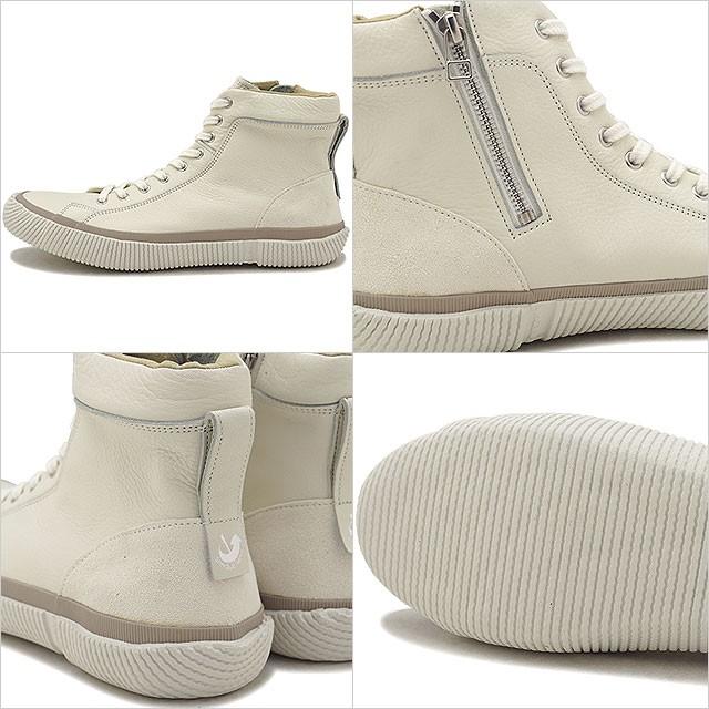 【返品送料無料】スピングルムーブ SPINGLE MOVE SPM-457 ソフトレザー ZIP スニーカー メンズ・レディース 靴 シューズ White [SPM457-61 FW18]