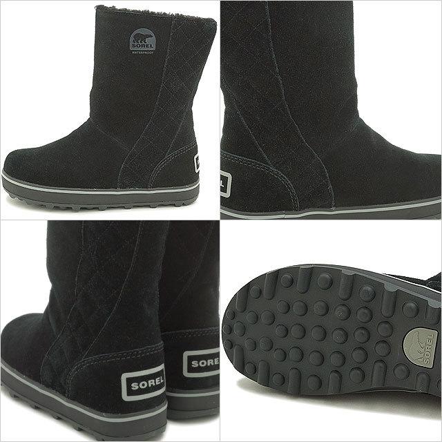 【送料無料】SOREL ソレル スノーブーツ レディース GLACY グレイシー BLACK 靴 [NL1975-011 FW15)
