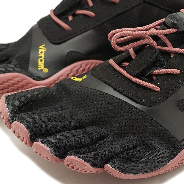 【送料無料】ビブラムファイブフィンガーズ レディース Vibram FiveFingers ジム フィットネス カジュアル向け 5本指シューズ KSO EVO ベアフット Black/Rose 靴 [18W0701 SS18]