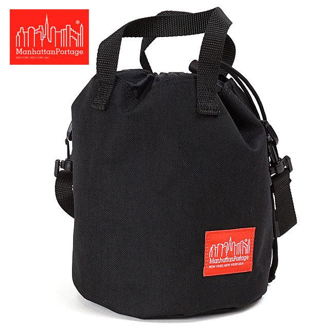 【送料無料】マンハッタンポーテージ Manhattan Portage アイオナアイランド ショルダーバッグ Iona Island Shoulder Bag [MP1423 ] メンズ・レディース 鞄 コーデュラナイロン 巾着バッグ BLACK ブラック系【メール便配送】