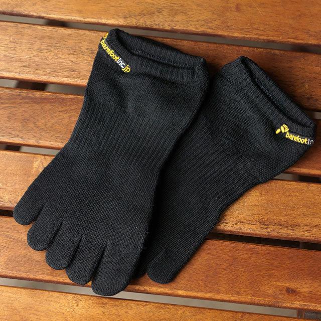 ビブラムファイブフィンガーズ Vibram FiveFingers ベアフットソックス ショート 滑り止め無し [20A1001 SS21] メンズ・レディース 日本製 5本指靴下 アンクル スニーカーソックス BLACK ブラック系【メール便配送】