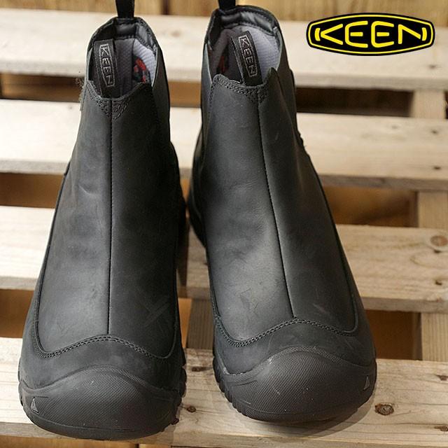 【送料無料】KEEN キーン サイドゴアブーツ メンズ MENS Anchorage Boot III WP アンカレッジ ブーツ スリー ウォータープルーフ Black/Raven 靴 [1017789 FW17]