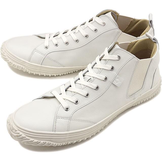 【返品送料無料】スピングルムーブ SPINGLE MOVE スニーカー カンガルーレザー SPM-442 [SPM442-82 SS20] メンズ・レディース スピングル ムーヴ 日本製 サイドゴア 靴 White/White ホワイト系