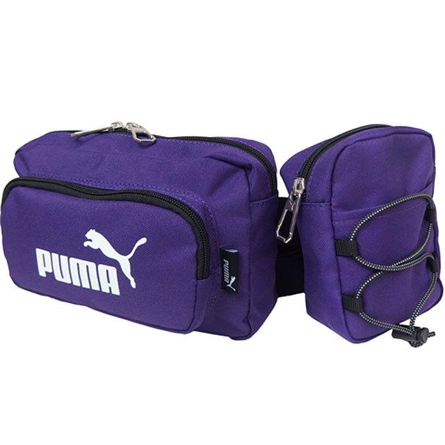 【送料無料】プーマ PUMA 2連ウエストバッグ [J20097 SS21] メンズ・レディース ボディバッグ PURPLE パープル系