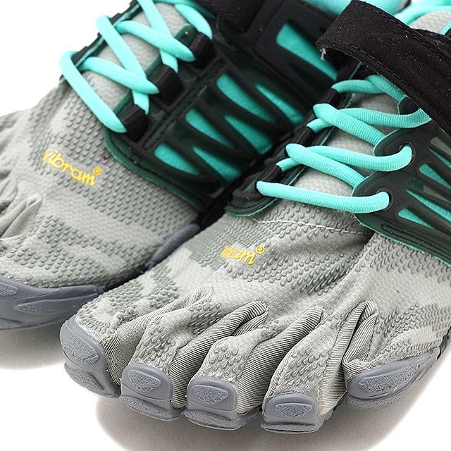【送料無料】Vibram FiveFingers ビブラムファイブフィンガーズ レディース スポーツシューズ V-Train Grey/Black/Aqua ビブラム ファイブフィンガーズ 5本指シューズ ベアフット 靴 [18W6601]