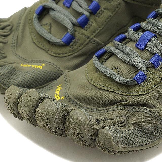 【送料無料】ビブラムファイブフィンガーズ レディース Vibram FiveFingers ハイキング アウトドア カジュアル向け 5本指シューズ V-TREK ベアフット Military/Purple 靴 [18W7402 SS18]