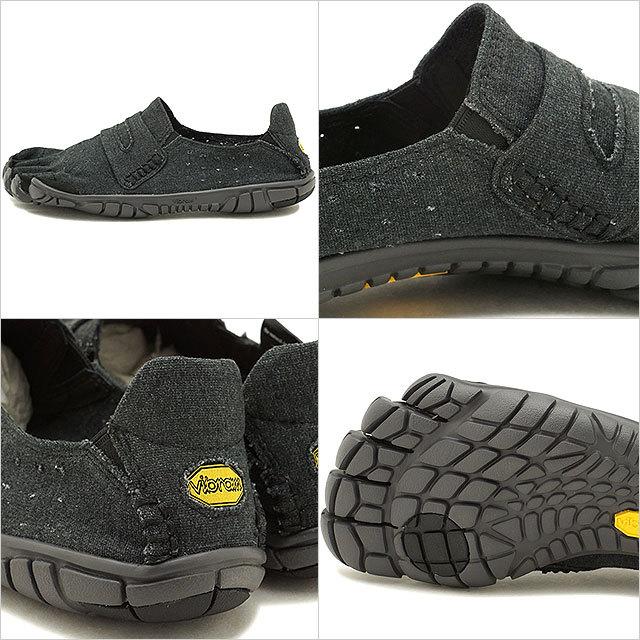 【送料無料】ビブラムファイブフィンガーズ メンズ Vibram FiveFingers カジュアル向け ヘンプ素材 5本指シューズ CVT-HEMP ベアフット Black 靴 [18M6201 SS18]