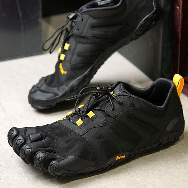 【送料無料】ビブラムファイブフィンガーズ Vibram FiveFingers メンズ Vトレイル2.0 M V-Trail 2.0 5本指 トレイルランニングシューズ トレラン Black/Yellow ブラック系 [19M7601]