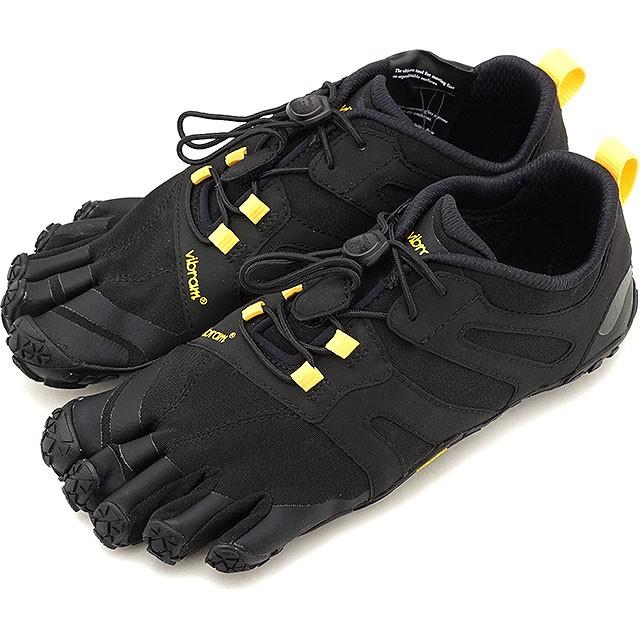【送料無料】ビブラムファイブフィンガーズ Vibram FiveFingers レディース Vトレイル2.0 W V-Trail 2.0 5本指 トレイルランニングシューズ トレラン Black/Yellow ブラック系 [19W7601 SS19]