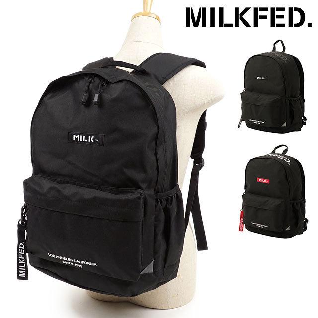 【送料無料】ミルクフェド MILKFED. リュック トップロゴ バックパック TOP LOGO BACKPACK [103203053024 FW20] メンズ・レディース デイパック 通学 スクバ