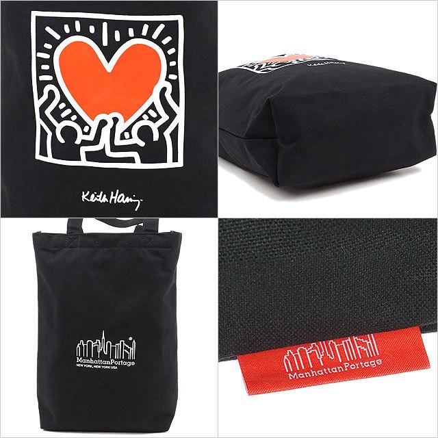 マンハッタンポーテージ Manhattan Portage キースヘリング パッカブルトートバッグ Packable Tote Bag Keith Haring [MP1352CVLKH21 SS21] メンズ・レディース 鞄 キャンバス BLACK ブラック系