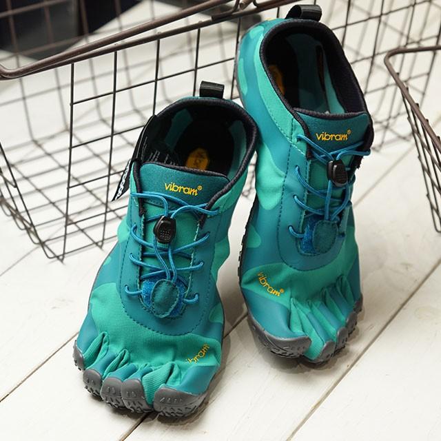 【送料無料】ビブラムファイブフィンガーズ Vibram FiveFingers 5本指シューズ V-ALPHA [19W7102 SS20] レディース ベアフットスニーカー 靴 Teal/Blue グリーン系