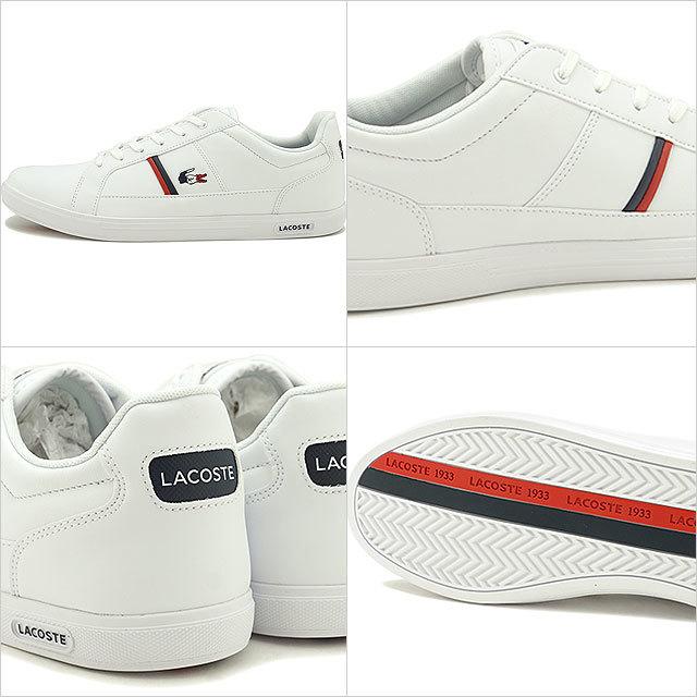 【送料無料】ラコステ LACOSTE メンズ ヨーロッパ M EUROPA TRI 1 スニーカー 靴 WHT/NVY/RED ホワイト系 [SMA031L-407 SS20]