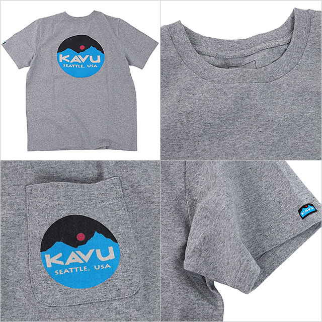 【送料無料】カブーKAVU メンズ マウンテン ロゴ Tシャツ Mountein Logo Tee 半袖 [19820422 SS19]【メール便配送】