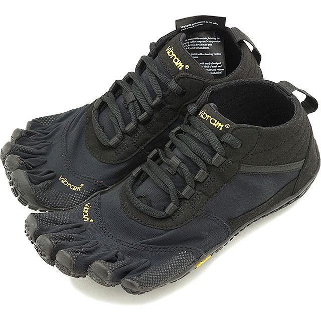 【送料無料】ビブラムファイブフィンガーズ Vibram FiveFingers 5本指シューズ ハイキング トレッキング用 V-TREK [19W7401 SS20] レディース ベアフットスニーカー 靴 Black / Black ブラック系