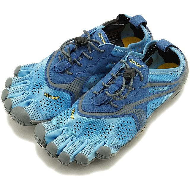 【送料無料】ビブラムファイブフィンガーズ Vibram FiveFingers 5本指シューズ ランニング ウォーキング用 V-RUN W [20W7003 SS20] レディース スニーカー BLUE/BLUE ブルー系