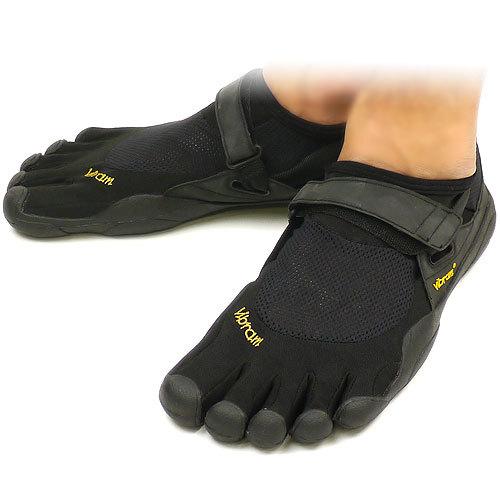 【送料無料】Vibram FiveFingers ビブラムファイブフィンガーズ メンズ&レディース KSO Black/Black ビブラム ファイブフィンガーズ 5本指シューズ ベアフット靴 [W148]