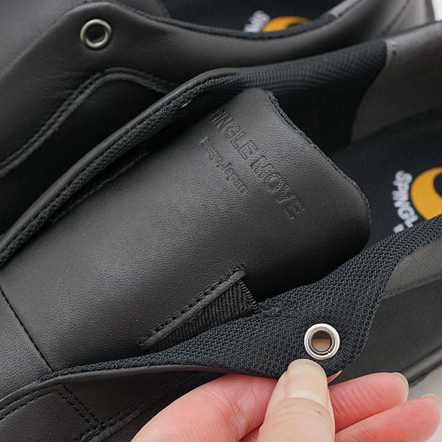 【返品送料無料】スピングルムーブ SPINGLE MOVE スリッポン レザースニーカー SPM-166 [SPM-166-05 FW20] メンズ・レディース 日本製 ムーヴ Black ブラック系