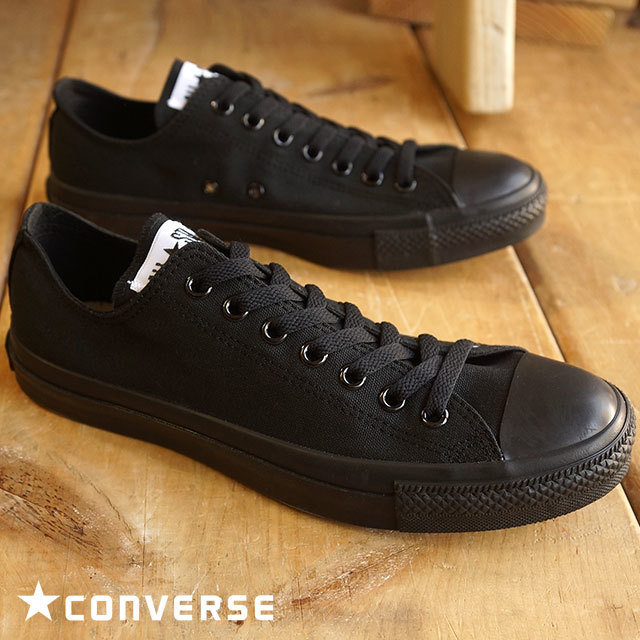 【送料無料】コンバース キャンバス オールスター ローカット CONVERSE CANVAS ALL STAR OX ブラックモノクローム (32160327)