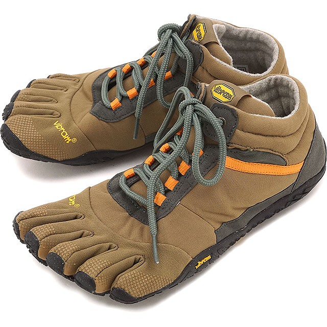 【送料無料】Vibram FiveFingers ビブラムファイブフィンガーズ メンズ MEN TREK ASCENT INSULATED Khaki/Orange ビブラム ファイブフィンガーズ 5本指シューズ ベアフット 靴 [15M5301]