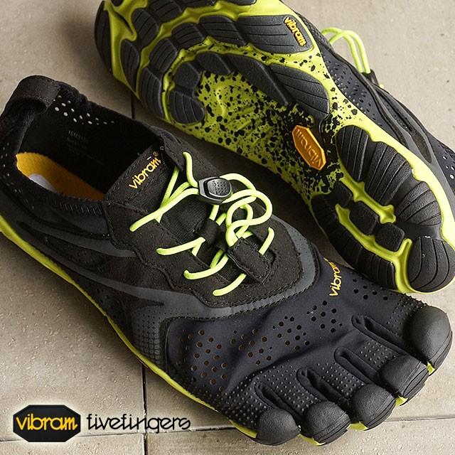 【送料無料】Vibram FiveFingers ビブラムファイブフィンガーズ メンズ V-Run Black/Yellow ビブラム ファイブフィンガーズ 5本指シューズ ベアフット靴 [16M3101]