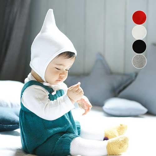 【ネコポス対応】コットンエンジェルとんがり帽子【正規品】【ベビー】【キッズ】とんがり帽子 キッズ帽子 ベビー帽子
