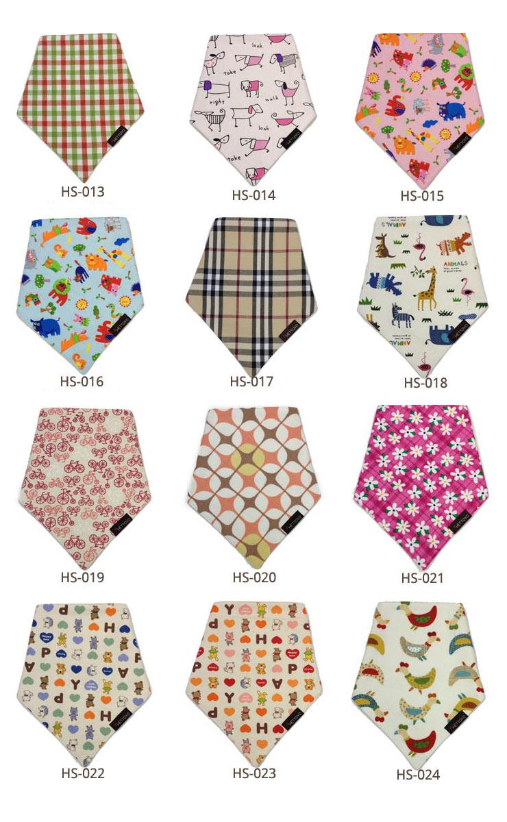 【ネコポス対応】【ベビー】【キッズ】多彩なパターンのオーガニックスカーフビブ