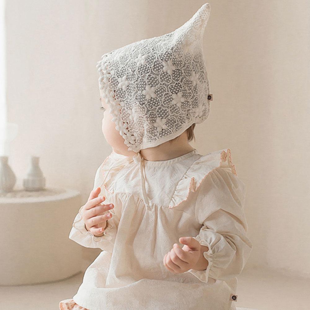【ネコポス対応】マルリンレースボネット★レースベビー帽子【ベビー】【キッズ】【正規品】レース帽子 ベビー帽子 赤ちゃん帽子 赤ちゃんヘアーアクセサリー 写真撮影