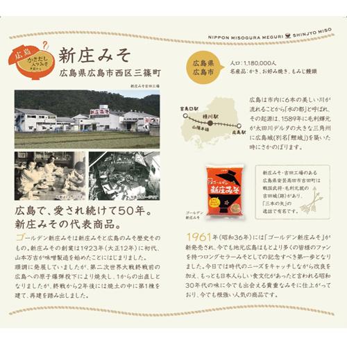 かきだし入り味噌 (広島県・新庄味噌) 3食箱(SS-003)