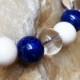 三ツ星D  男性向きブレスレット(10mm玉 Lサイズ) 象牙 ラピスラズリ 水晶 開運・幸福・魔除け厄除けのパワーストーンブレスレット