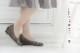 【送料無料】【SUaSHI(スウェイシー)】ひと足入れた瞬間から違う!まるで素足のようなパンプス。ウッド調ウェッジヒールパンプスシューズイン神戸オリジナル全面低反発クッション&幅広2E+ スアシ[FOO-AM-R5701](22.0・25.0)H5.0