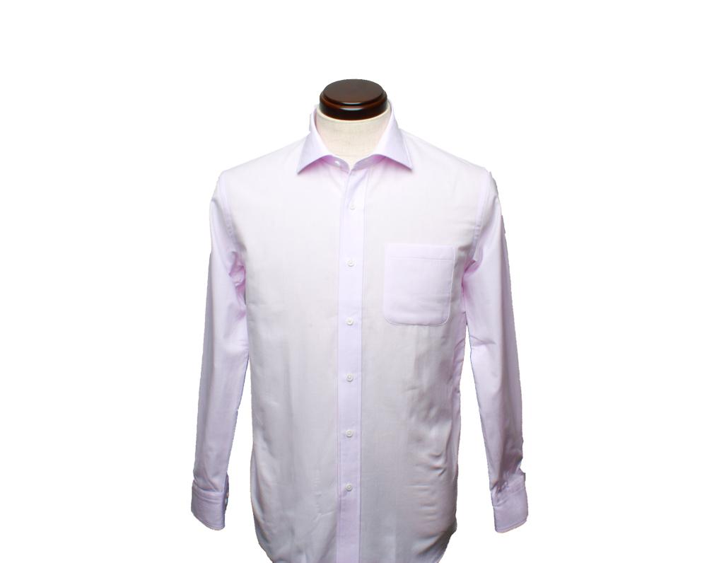 【hadae】 今治タオル認定済 プレミアムパイル メンズ ワイシャツ 長袖 ピンク セミワイド